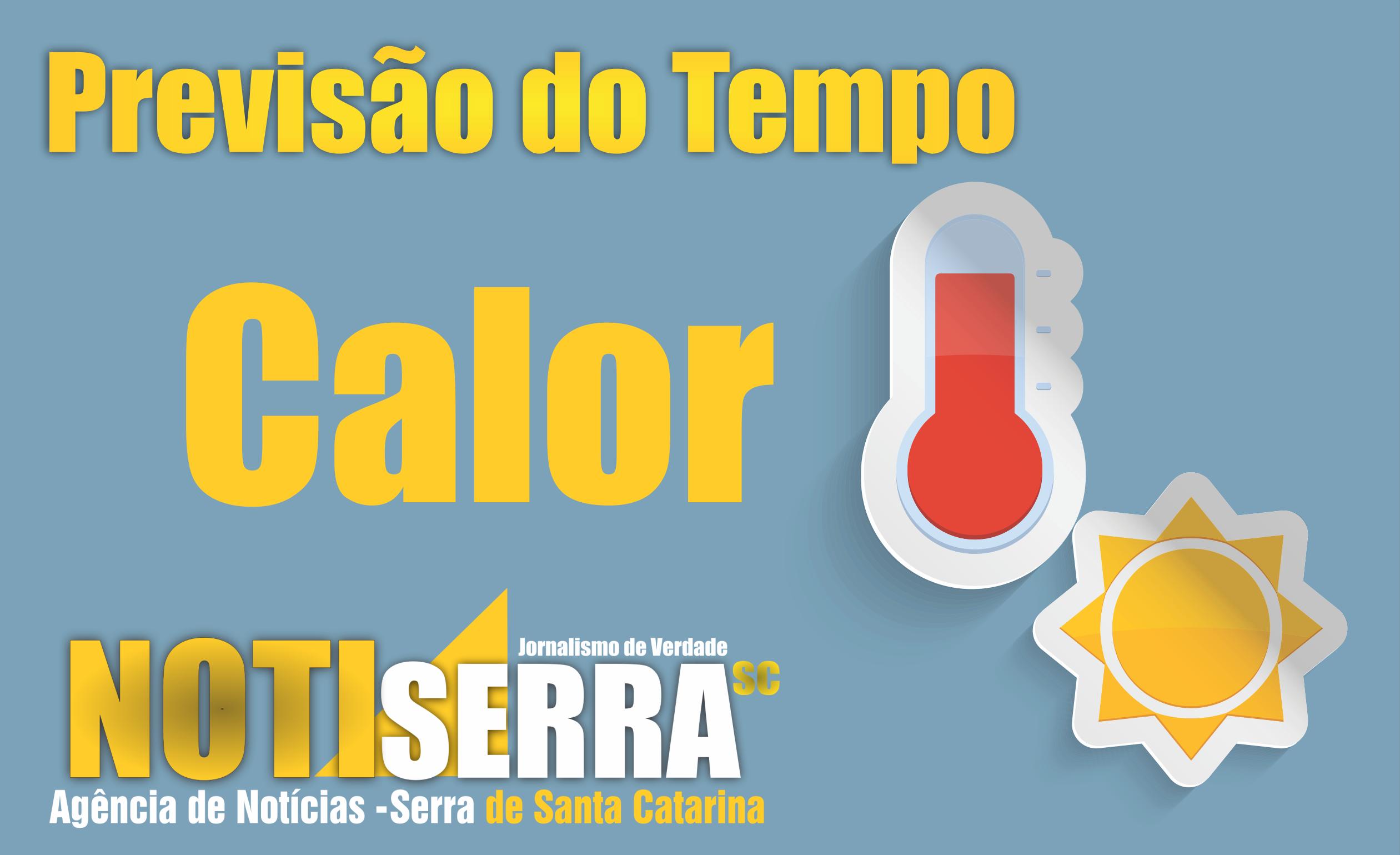 TEMPO FIRME COM FORTE CALOR NESTA QUINTA-FEIRA!!!   Portal NotiSerra SC bbf5945f8e